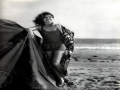 Clara Bow on the Beach