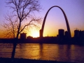1981 - St. Louis Skyline at the Gateway Arch