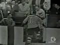 NHL Goalie Takes Puck in the Face - 1959