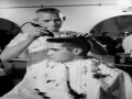 Elvis Gets Army Haircut