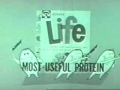 The first commercial for Quaker Oats Life cereal.