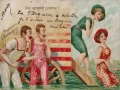 Risque Bathing Beauty Postcard