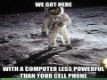 On The Moon With Little Computing Power