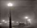 Foggy night in New Bedford Massachusetts