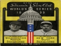1933 World Series Scorecard
