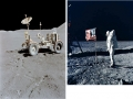 For Marty Lunar Rover and American Flag