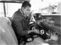 Cassius Clay Creating a Playlist In His Car