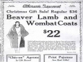 Beaver Lamb and Wombat coats