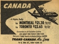 Trans-Canada Airlines Ad