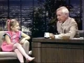 Young Drew Barrymore with Johnny Carson