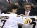 Ray Bourque Gives Jersey to Espo