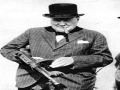 Winston Churchill Machine Gun Photo