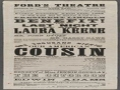 Fords Theater Playbill 4-14-1865