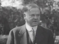 Herbert Hoover urges people to vote