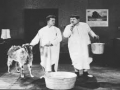 Laurel and Hardy Hide a Goat