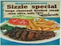 Howard Johnson Steak Dinner Special