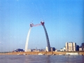 1965 - Construction of the St. Louis Arch
