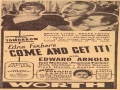 1936 Come And Get It Newspaper Ad