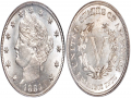1883 No-Cents Nickels