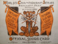 1909 World Series Scorecard
