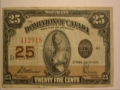 Canadian 25 Cent Banknote